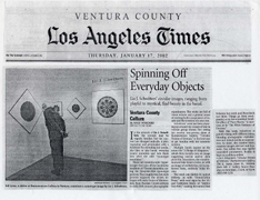Woodard, Josef: Spinning off Everyday Objects Los Angeles Times, January 17, 2002, Calendar Weekend